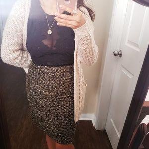 Sparkly tweed pencil skirt
